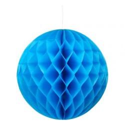 Rozeta Kula dekoracyjna, 30cm niebieska