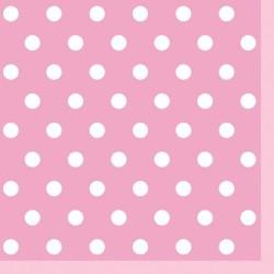 Serwetki 3-warstwowe, różowe/kropki, 33cm/20 szt.