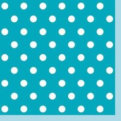 Serwetki 3-warstwowe, niebieskie/kropki, 33cm/20 szt.