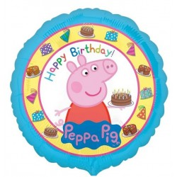 "Balon foliowy 18"" Peppa Pig Happy Birthday"
