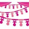 Girlanda papierowa Smoczki różowe