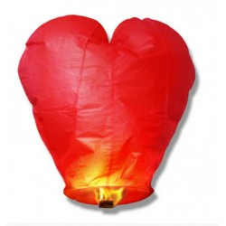 Lampion serce, czerwony
