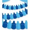Girlanda papierowa Butelka ze smoczkiem niebieska