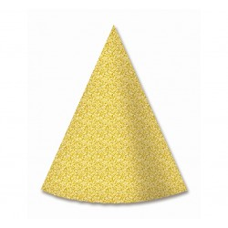 Czapeczki papierowe złote, 6szt