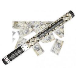 Tuba strzelająca, banknotami 200PLN