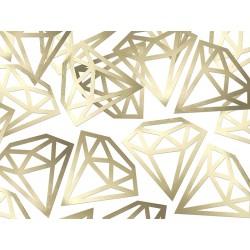 Konfetti Diamenty złote, 12szt