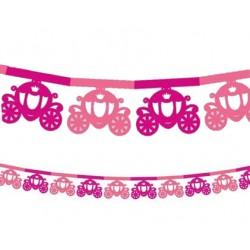 Girlanda papierowa Karoca, różowa 360cm