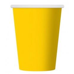 Kubeczki papierowe żółte