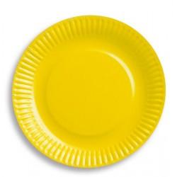 Talerzyki papierowe żółte