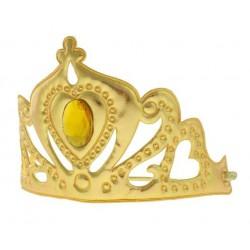Tiara złota Królowa, miękka z gumką