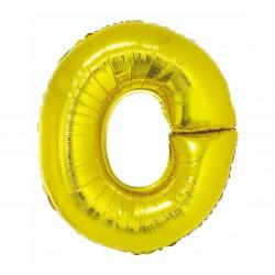 """Balon foliowy litera """"O"""", złoty, 95cm"""