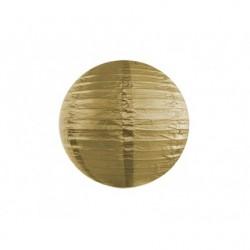 Lampion papierowy 20 cm, złoty 1szt.