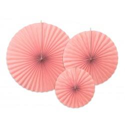 Rozety dekoracyjne, 3szt j.różowe