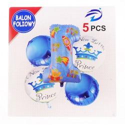 Balon foliowy roczek niebieski