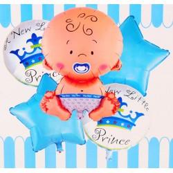 Balon foliowy bobas niebieski