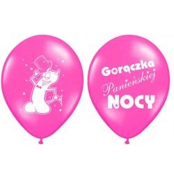 """Balon gumowy 30cm/14"""", """"Gorączka..."""" różowy, 1szt."""