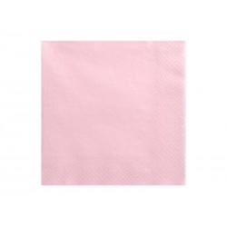 Serwetki trójwarstwowe, j. różowy, 33x33cm, 1op.