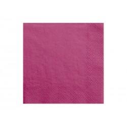 Serwetki trójwarstwowe, c. różowy, 33x33cm, 1op.