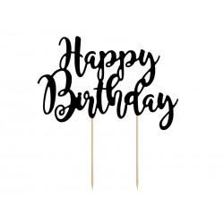 Topper na tort Happy Birthday, 22,5cm, 1szt.