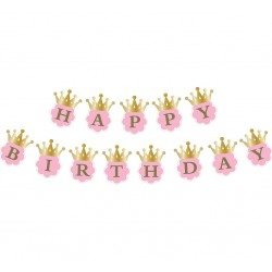 "GIRLANDA URODZINOWA ""HAPPY BIRTHDAY"""
