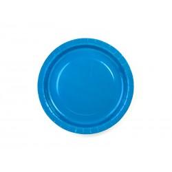 Talerzyki, niebieskie, 23cm, 1op.