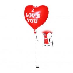 Balon foliowy świecący LED I Love You