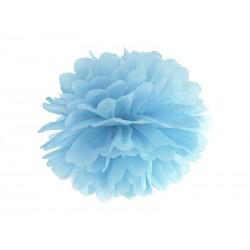 Pompon papierowy niebieski, 35cm