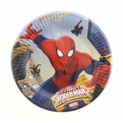 "Talerzyki papierowe ""Ultimate Spiderman - Web Warriors"" 20 cm, 8 szt."