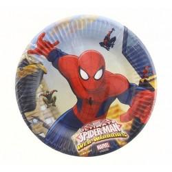 """Talerzyki papierowe """"Ultimate Spiderman - Web Warriors"""" 20 cm, 8 szt."""
