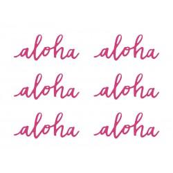 Dekoracje papierowe Aloha, fuksja