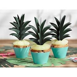 Dekoracje do muffinek Aloha - Ananasy