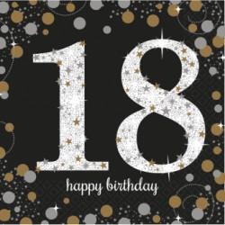 Serwetki 18 urodziny HAPPY BIRTHDAY