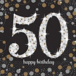 Serwetki 50 HAPPY BIRTHDAY