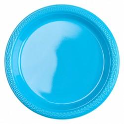 Talerzyki plastikowe turkusowe