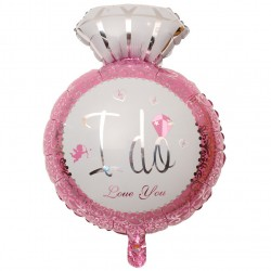 "Balon foliowy diament "" I Do"" różowy"