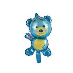 """Balon foliowy 14"""" Miś, niebieski"""