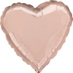 """Balon foliowy 24"""" serce, złoty róż"""