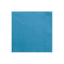Serwetki trójwarstwowe, niebieski, 33x33cm, 1op.