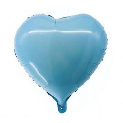 "Balon foliowy ""Serce"", błękitne, 36 cm"
