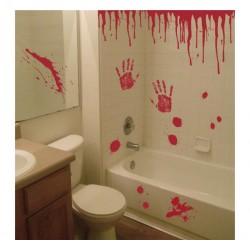 """Dekoracja do naklejania """"Krwawe ślady - ręce"""", 20 elementów"""