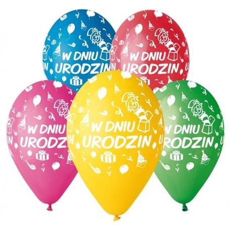 Balony W Dniu Urodzin 12 5 Szt Partyszoppl Dekoracje
