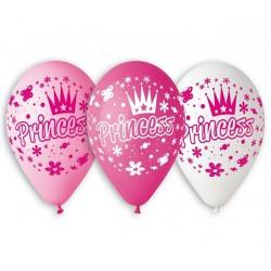 """Balony """"Księżniczki"""", 12"""" / 5 szt."""