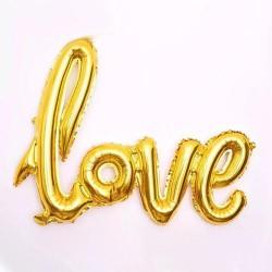Balon napis love, złoty