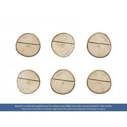 Drewniane podstawki pod wizytówki