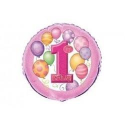 Balon foliowy na roczek dziewczynki