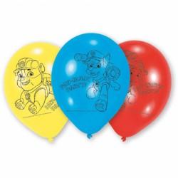 Balony Psi Patrol, 6szt, 23cm