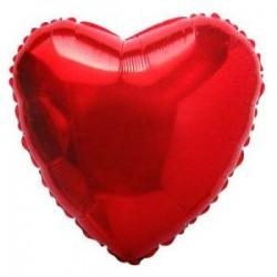 """Balon foliowy """" serce, czerwone, 2szt."""