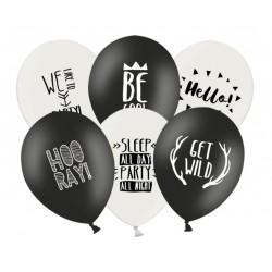 Balony urodzinowe 6 sztuk mix wzorów