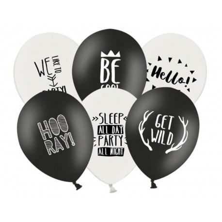 Balony Urodzinowe 6 Sztuk Mix Wzorów Partyszoppl Dekoracje