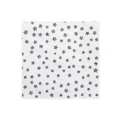 Serwetki papierowe białe w gwiazdki,